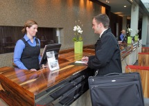 Check-in im Hotel