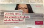 Mindestlohn Anzeige Tagesspiegel INSM