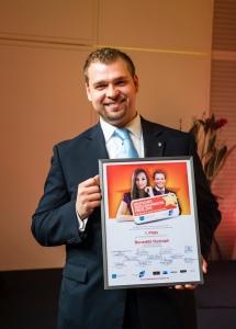 Benedikt Rudolph - Sieger des  Deutscher Hotelnachwuchs-Preises 2015