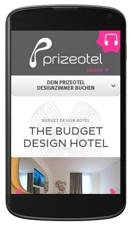 Prizeotel.com - responsives Design