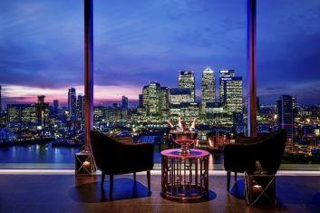 InterContinental London O2 – Skyline-Bar mit Panoramablick über Themse und die Silhouette der britischen Hauptstadt (Foto: IHG)