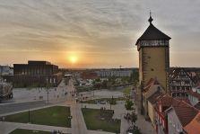 Stadthalle in Reutlingen - daneben wird ein neues Mittelklasse-Hotel geplant (Foto: Achim Mende/Stadt Reutlingen)