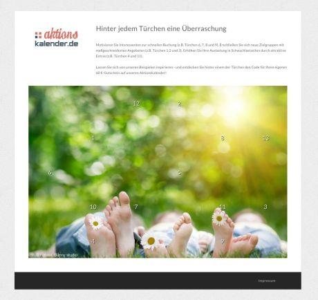 Perfektes Hotelmarketing auf Knopfdruck: Neues Marketing-Tool für Webseiten – Jeden Tag neue Überraschungen für die Gäste (Grafik: Aktionskalender.de)