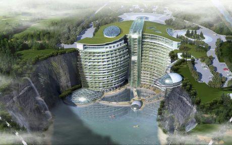 InterContinental Songjiang quarry Hotel – gebaut in einen Steinbruch