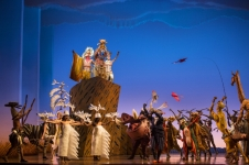 Guests can experience the Disney landmark musical event THE LION KING for its global premiere in Mandarin at Disneytown at Shanghai Disneyland. THE LION KING is performed at the 1,200-seat Walt Disney Grand Theatre, outside of the gates of Shanghai Disneyland. This entertainment experience requires a separate ticket. (PRNewsFoto/Walt Disney Parks and Resorts)