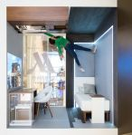 Marriott macht mit dem #MGravityRoom Werbung für ein neues Zimmerkonzept (Foto: Marriott Int.)