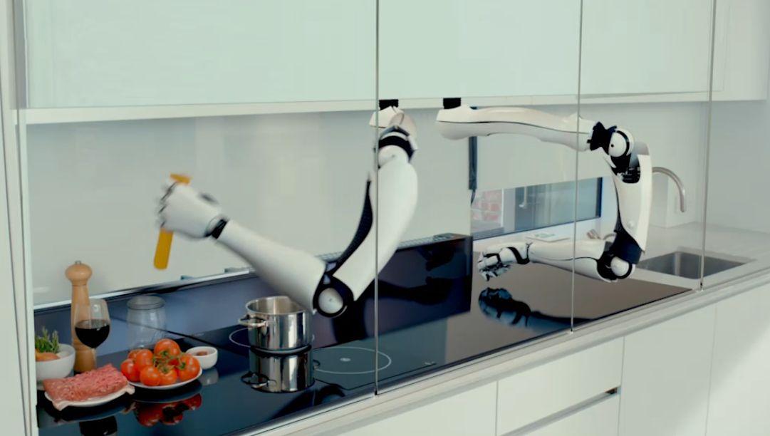 Roboterküche von Moley Robotics - 2017 soll das System auf den Markt kommen.