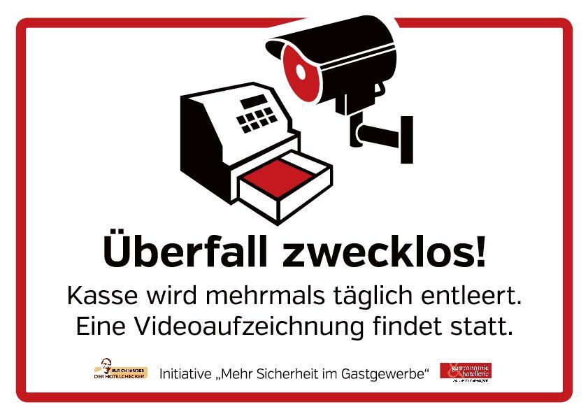"""ls Leserservice bietet die Redaktion von """"gastronomie & hotellerie"""" Ihnen ein kostenlos abrufbares Türschild zu Abschreckung von Ganoven. Die Vorlage """"Mehr Sicherheit für das Gastgewerbe"""" kann per E-Mail angefordert werden: gastro.redaktion@hussberlin.de"""