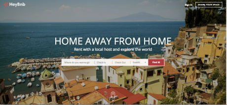 Heybnb index page