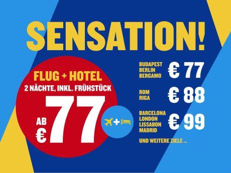 Ryanair Holidays: Städteflüge plus zwei Hotelnächte ab 77 Euro - City-Trips günstig wie noch nie - Insgesamt sind bei Ryanair Holidays (http://holidays.ryanair.com) Tausende von Städtereisen zu mehr als 20 Zielen in Europa für unter 100 Euro buchbar.