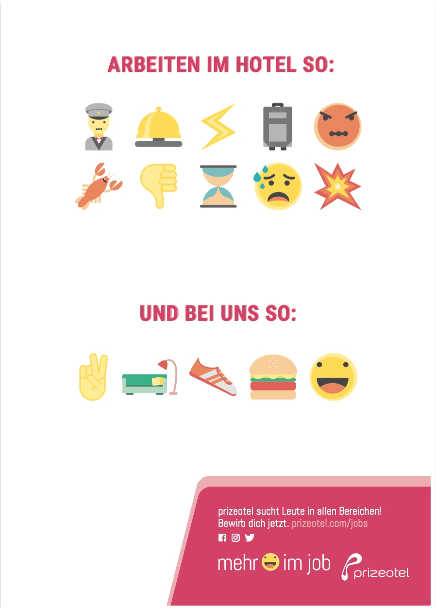 Prizeotel: HR Marketing mit Emoji